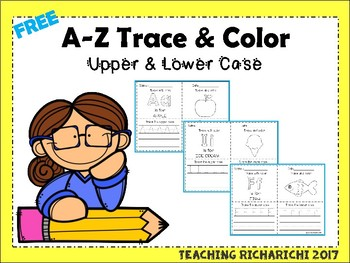 FREE A-Z Trace and Color Upper and Lower Case