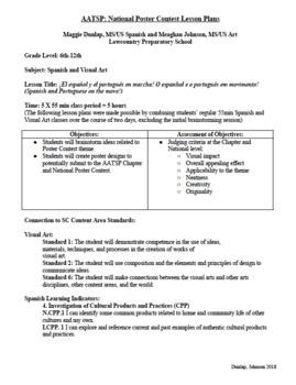 FREEBIE 2018 AATSP Poster Contest Lesson Plans