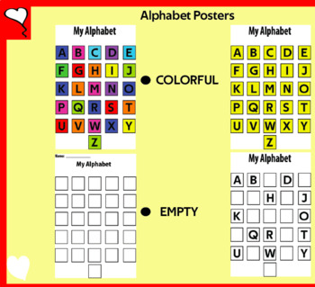 FREE ABC Alphabet Posters plus Fill In The Gaps Worksheets