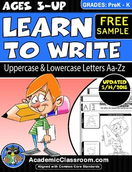 FREE ~ Learn to Write Uppercase & Lowercase Alphabets {Multi-Pack}