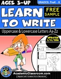 FREE ~ Learn to Write Uppercase & Lowercase Alphabets {Mul