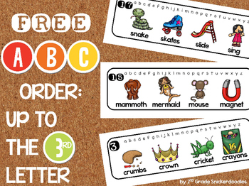 FREE ABC Order: Up to the 3rd Letter