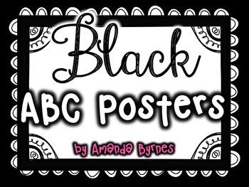 FREE ABC Posters (Black Line)