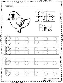 FREE ABC Tracing Worksheets Alphabet (A-Z) Upper and Lower ...