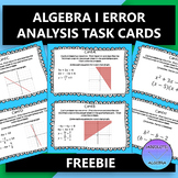 ALGEBRA 1 ERROR ANALYSIS TASK CARDS FREE