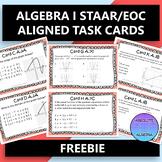 ALGEBRA 1 STAAR EOC TASK CARDS FREE