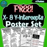 FREE - ALGEBRA POSTER SET - X- & Y-Intercepts