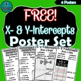 FREE - ALGEBRA POSTER SET - X- & Y-Intercepts