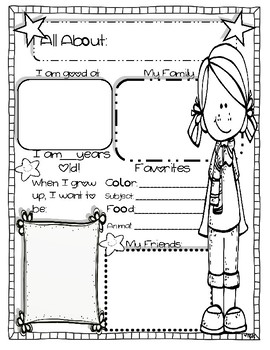 FREE ALL ABOUT ME POSTERS/ BACK TO SCHOOL