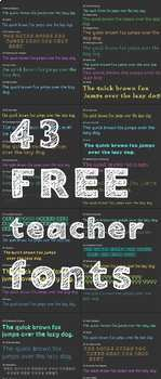 Growing Bundle. FREE ALL FONTS - SET OF 43 - personal classroom use