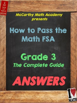 FREE ANSWER KEY!! How to Pass the Math FSA - Grade 3 - The COMPLETE Guide