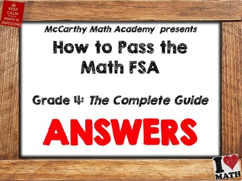 FREE ANSWER KEY!! How to Pass the Math FSA - Grade 4 - The