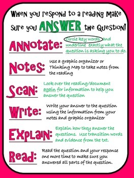 FREE ANSWER the question anchor chart