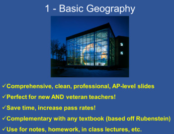 FREE AP Human Geography Lecture/Notes PowerPoint 1 Basic Geography