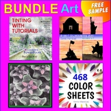 "FREE ART BUNDLE | Watercolors, Painting, Color Sheets, Art Lessons: ""Butterfly"""