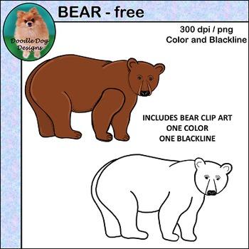 ART PARTS - WOODLAND - BEAR - TEMPLATE AND CLIP ART