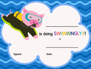FREE AWARDS and CERTIFICATES: Scuba Animals