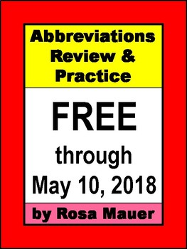 FREE Abbreviations Review & Practice