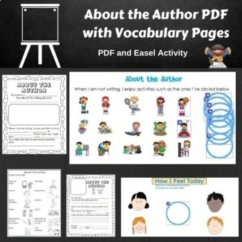 FREE About the Author PDF with Vocabulary Pages