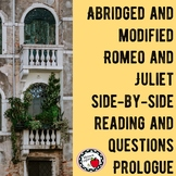 FREE Abridged/Modified Romeo and Juliet Side-by-Side Text