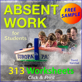 FREE - Absent Work
