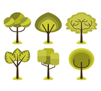 FREE Abstract Trees Clip Art