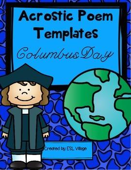 FREE Acrostic Poem Templates {Columbus Day}