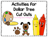 FREE Activities for Dollar Tree Cut Outs!