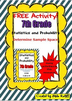 FREE Activity!! 7th Grade Math - Statistics and Probability - Sample Space