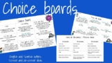 FREE DISTANCE LEARNING: Activity choice boards
