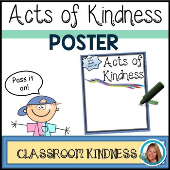 FREE Acts of Kindness Printable Poster #KindnessNation