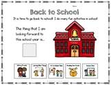FREE Adapted Worksheet for Back to School- Autism, Special Education