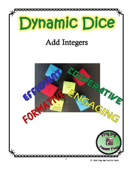 FREE Add Integers Dynamic Dice