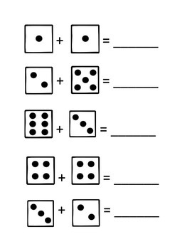 FREE Add the Dice Worksheets