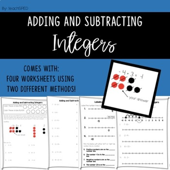 Adding And Subtracting Integers Worksheet Teaching Resources ...