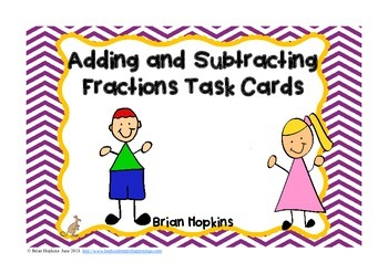 FREE Adding and Subtracting Fractions With Unlike Denominators Task Cards