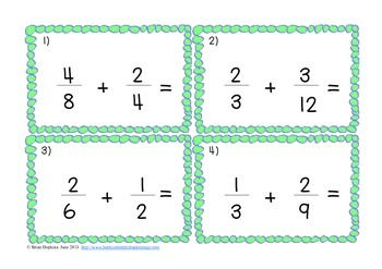 subtracting fractions with unlike denominators a adding worksheet ...