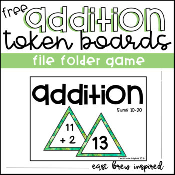 Addition File Folder Game: FREEBIE