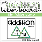 Addition File Folder Game: FREEBIE