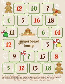 FREE Addition Gingerbread Bump