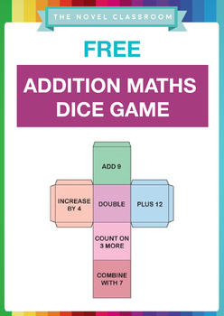 FREE Addition Maths Vocabulary Dice Game