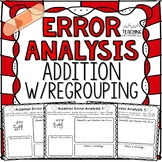FREE Addition Regrouping Error Analysis  { Center, Enrichment, or Assessment }