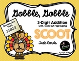 FREE Addition Scoot Task Cards: 3-Digit (Thanksgiving)