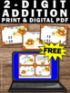 FREE 2 Digit Addition Without Regrouping, 1st Grade Math Addition Task Cards