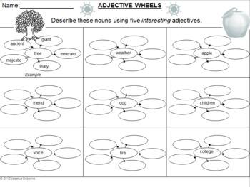 Adjective Graphic Organizer (FREE)