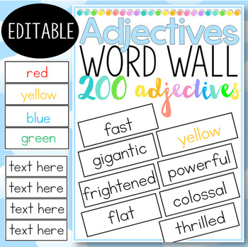 Adjectives Word Wall