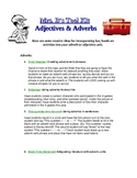 FREE: Adjectives and Adverbs- Creative Teaching Ideas!