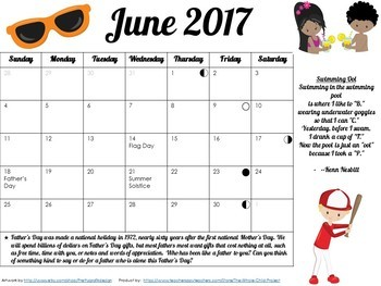 FREE Adorable, Editable Calendars for Summer 2017
