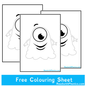 FREE Albee the Alien Black and White Colouring Sheet
