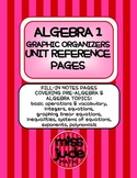 Algebra 1 Complete Year Graphic Organizers and Unit Refere